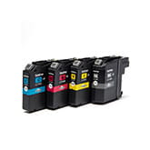 Ink cartridges inside inkjet printer