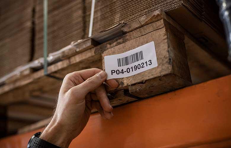 Imprimante d'étiquettes industrielles stockage