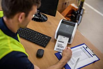 Impression d'étiquettes facile et transparente - TD-4D imprimantes thermiques