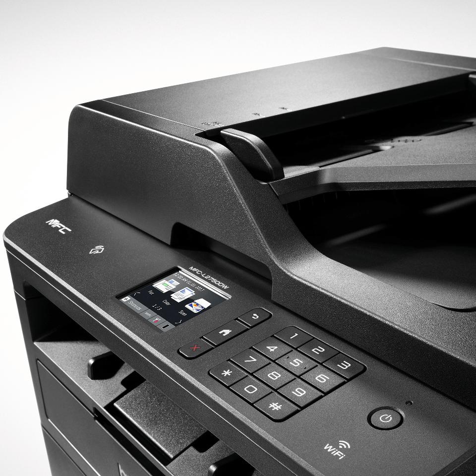 MFC-L2750DW imprimante 4-en-1 laser monochrome compacte et wifi 4