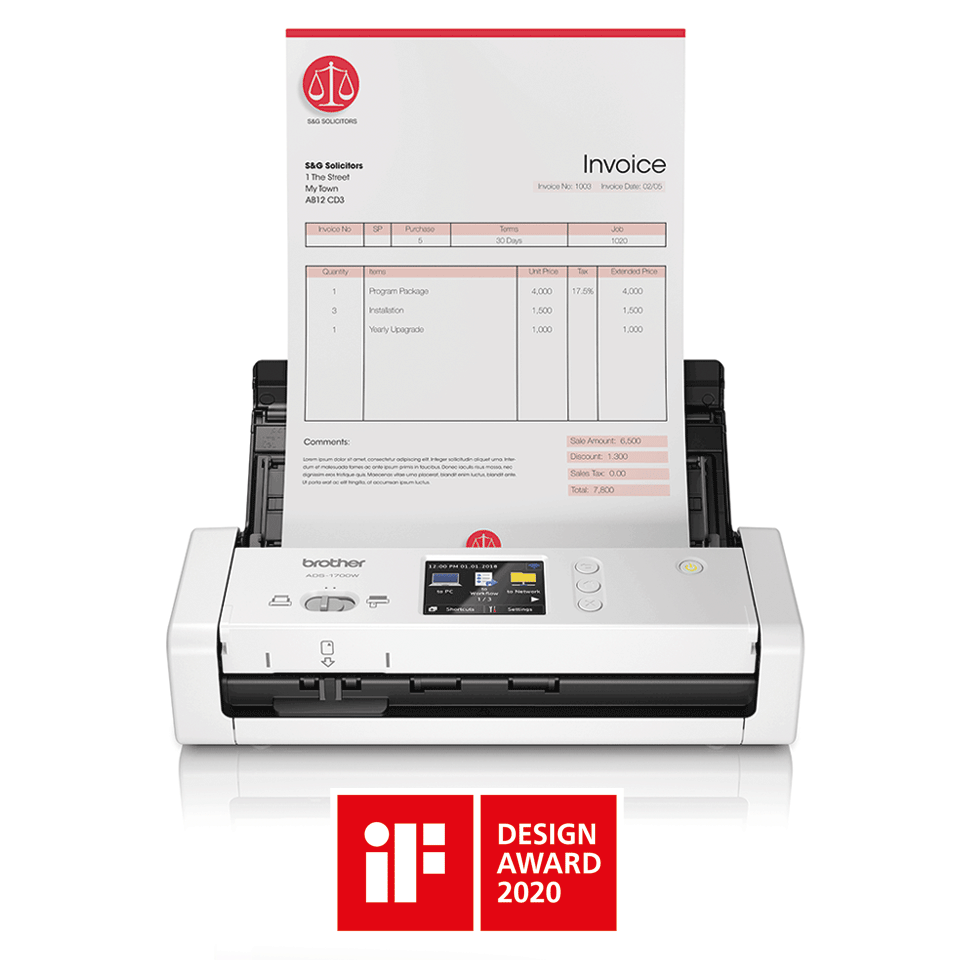 ADS-1700W Scanner de documents intelligent et compact 4