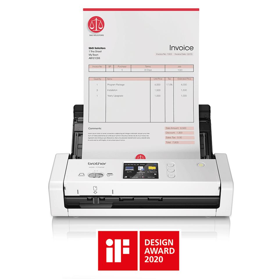 ADS-1700W Scanner de documents intelligent et compact 4