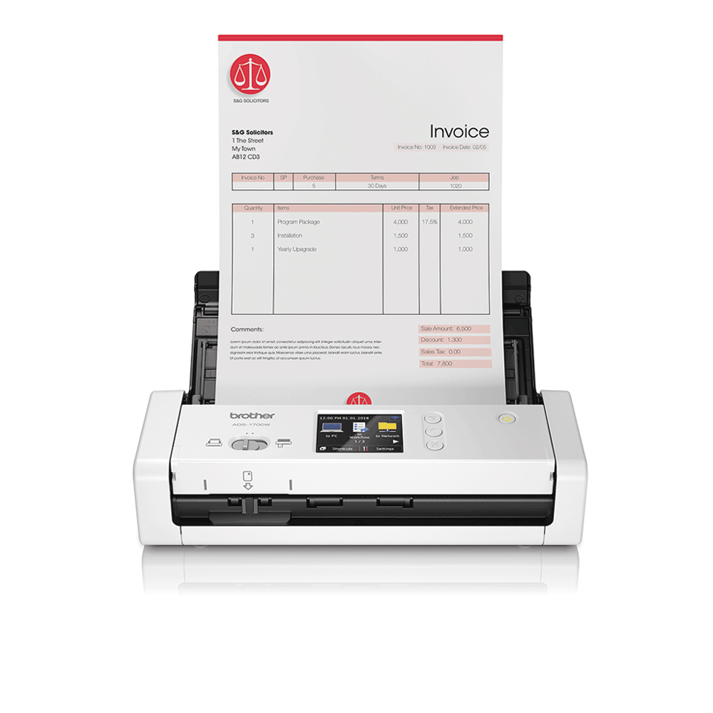 ADS-1700W Scanner de documents intelligent et compact