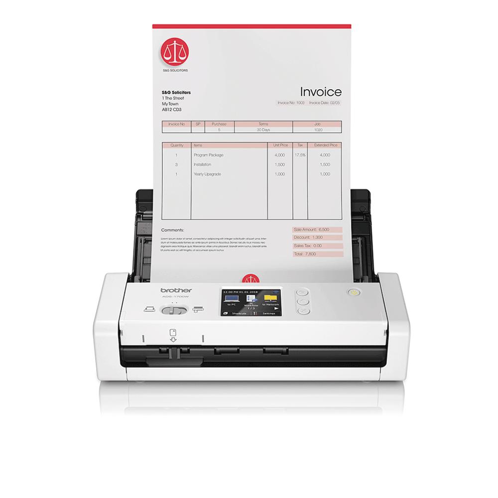 ADS-1700W Scanner de documents intelligent et compact