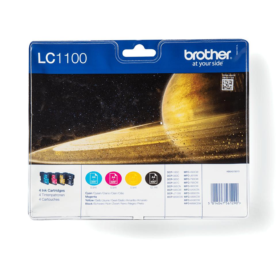 Pack de cartouches d'encre LC1100VALBP Brother original – cyan, magenta, jaune et noir
