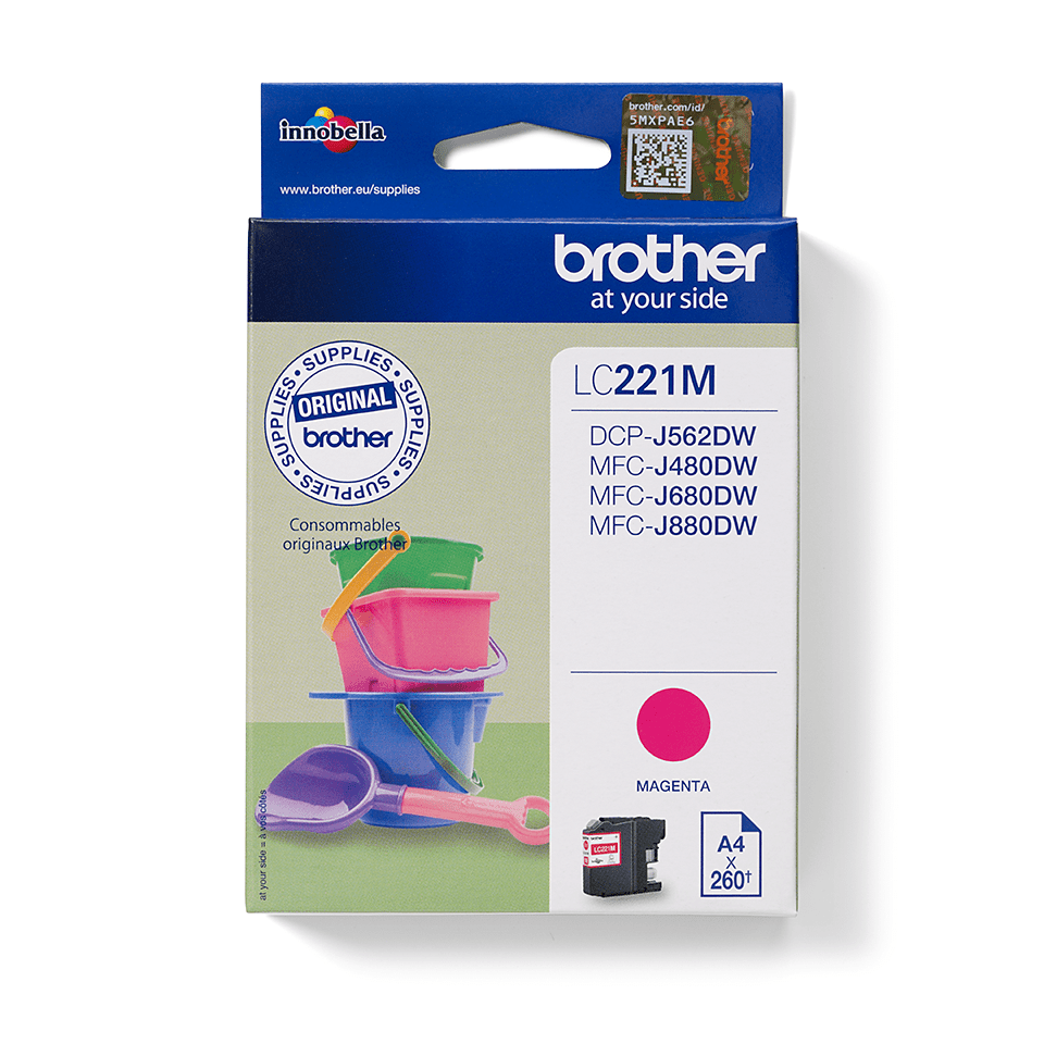 Cartouche d'encre LC221M Brother originale – magenta