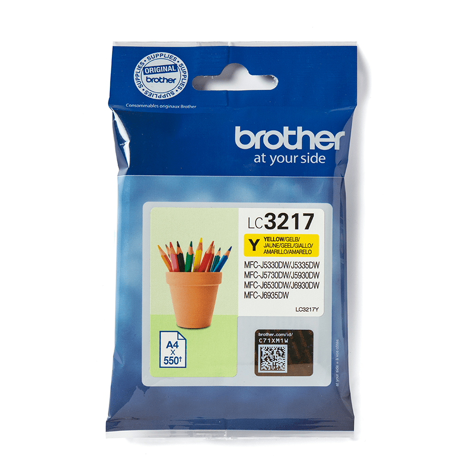 Cartouche d'encre LC3217Y Brother originale – jaune 1