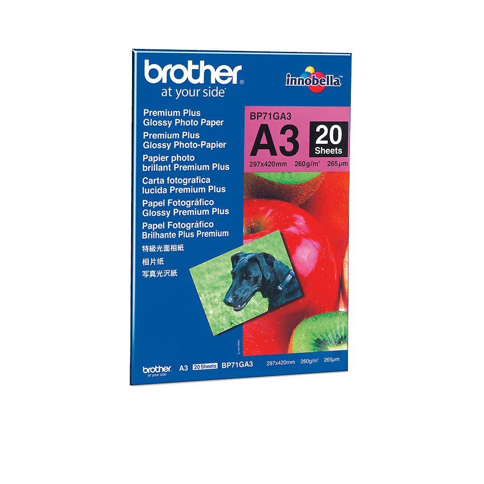 Papier photo brillant BP71GA3 A3 Brother original