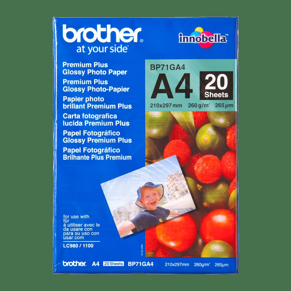Papier photo brillant BP71GA4 A4 Brother original