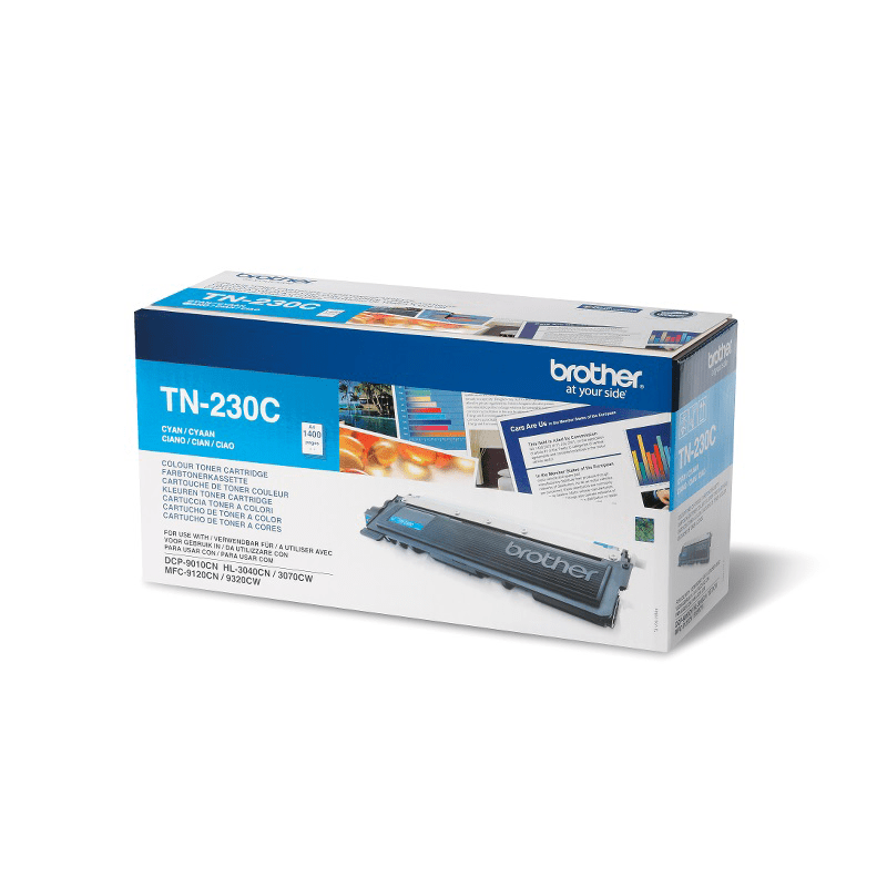 TN-230C toner cyan d'origine Brother à rendement standard