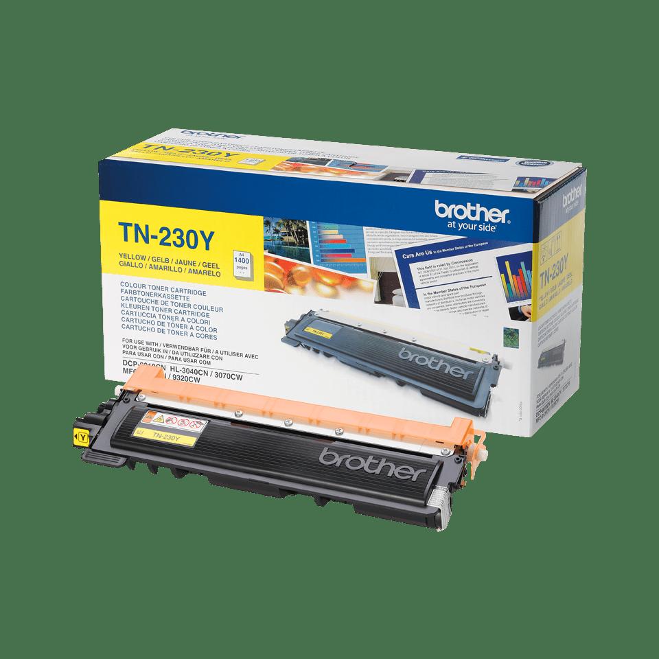TN-230Y toner jaune d'origine Brother à rendement standard