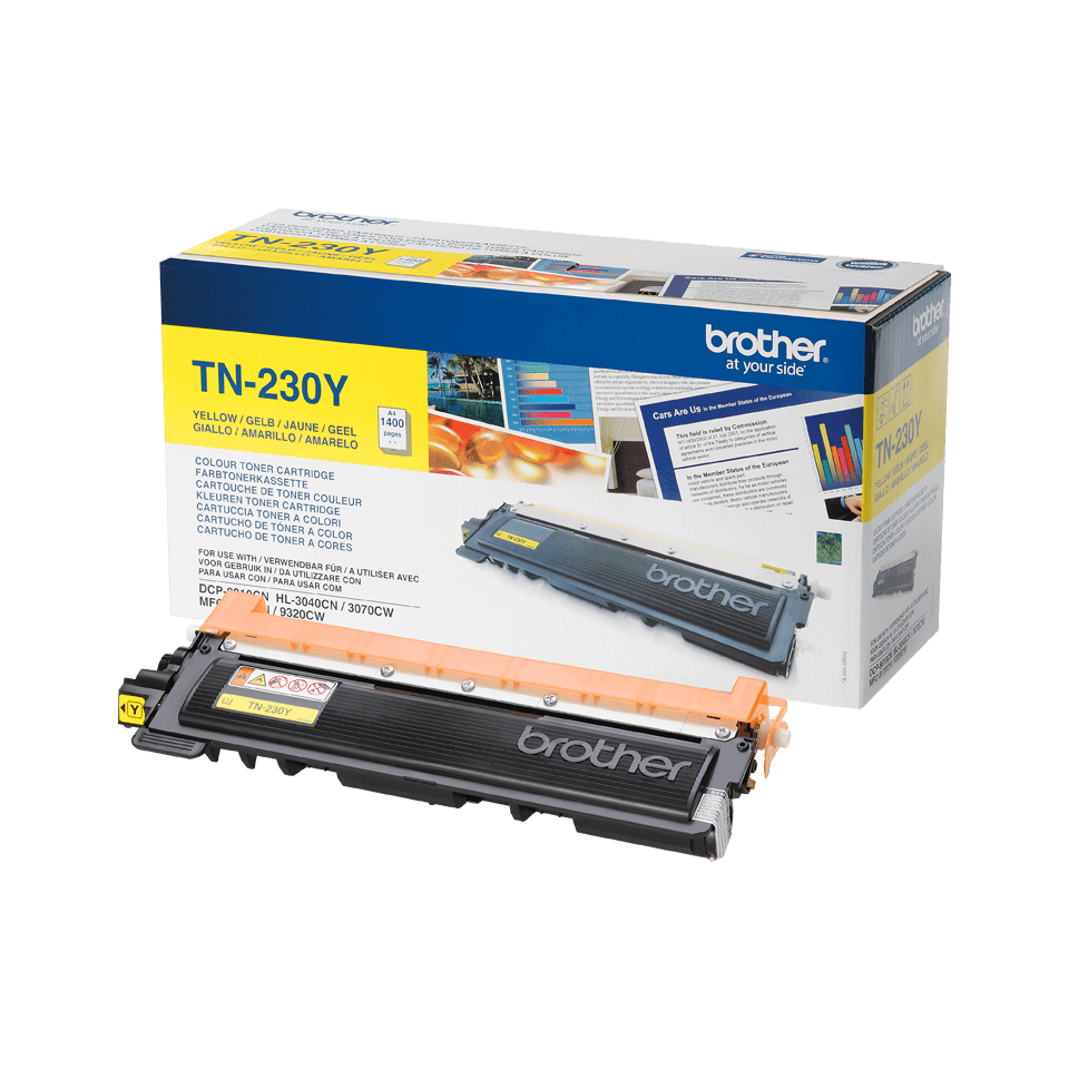 TN-230Y toner jaune d'origine Brother à rendement standard 2
