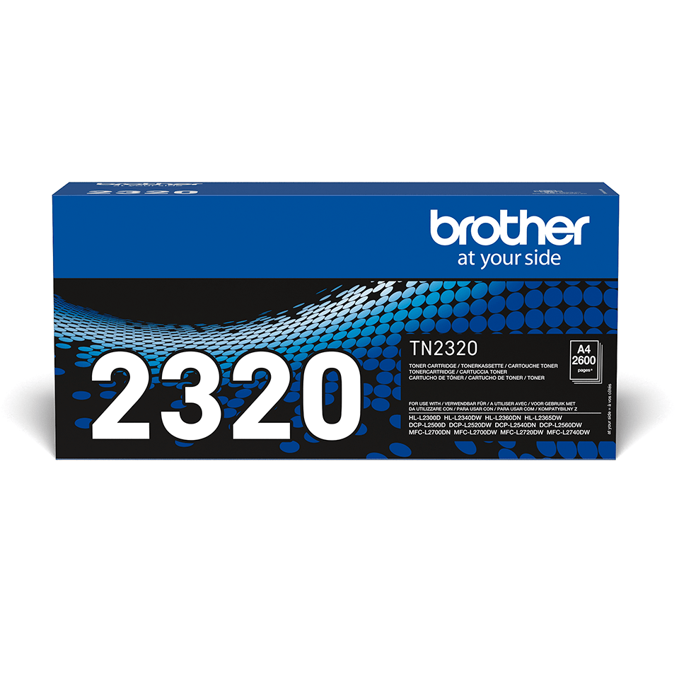 TN-2320 toner noir d'origine Brother à haut rendement 0