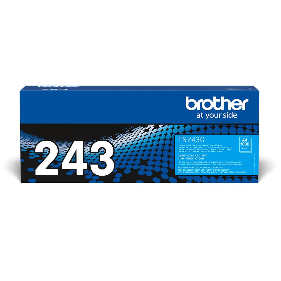 TN243C toner cyan d'origine Brother à rendement standard