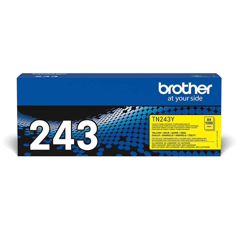TN243Y toner jaune d'origine Brother à rendement standard