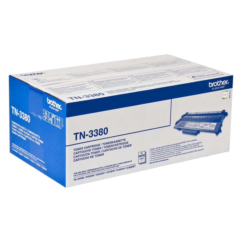 TN-3380 toner noir d'origine Brother à haut rendement