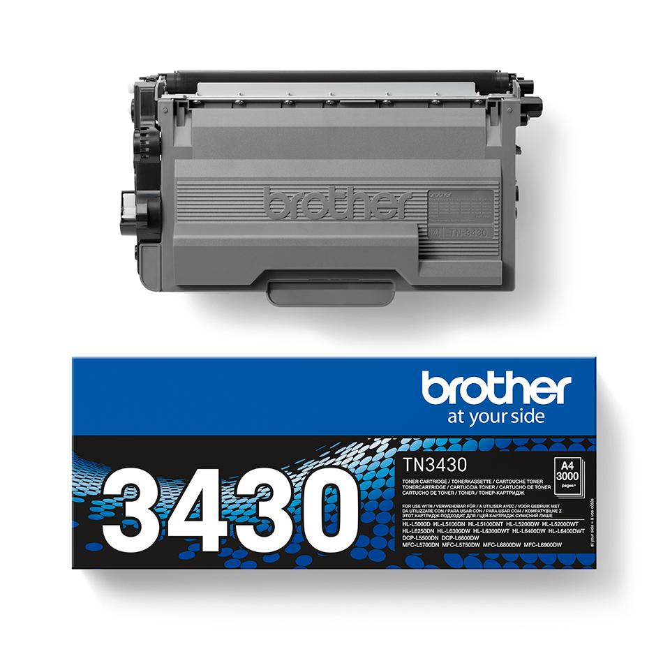 TN-3430 toner noir d'origine Brother à rendement standard