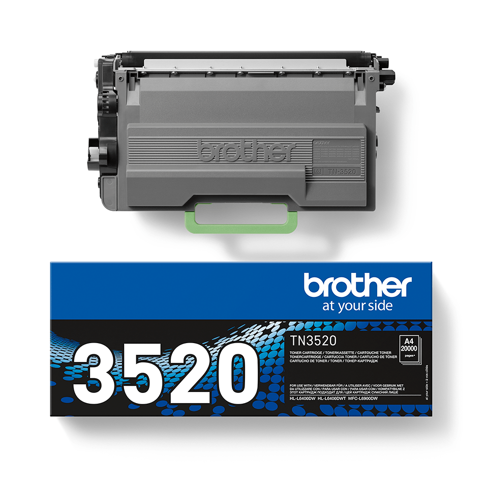 TN-3520 toner noir d'origine Brother à ultra haut rendement 2