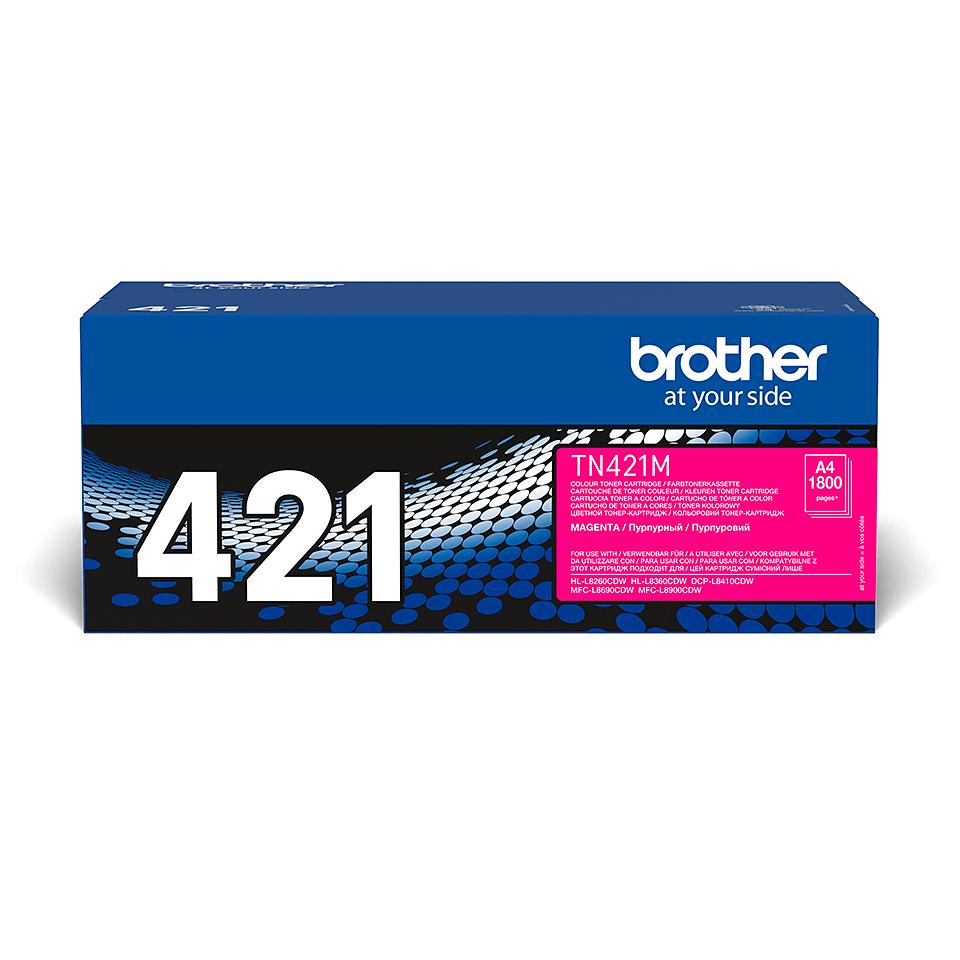 TN-421M toner magenta d'origine Brother à rendement standard 1