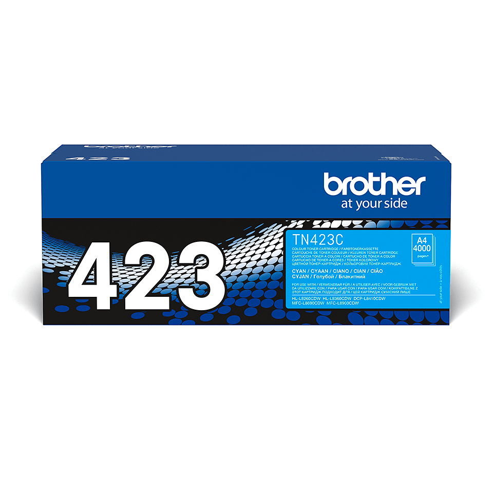TN-423C toner cyan d'origine Brother à haut rendement
