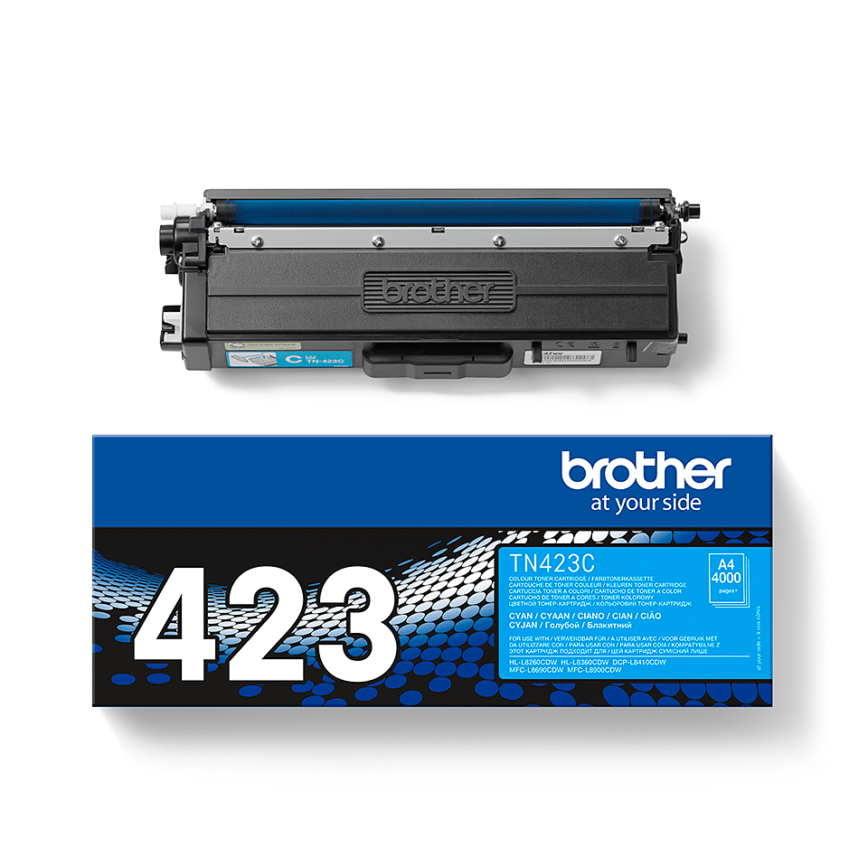 TN-423C toner cyan d'origine Brother à haut rendement 2