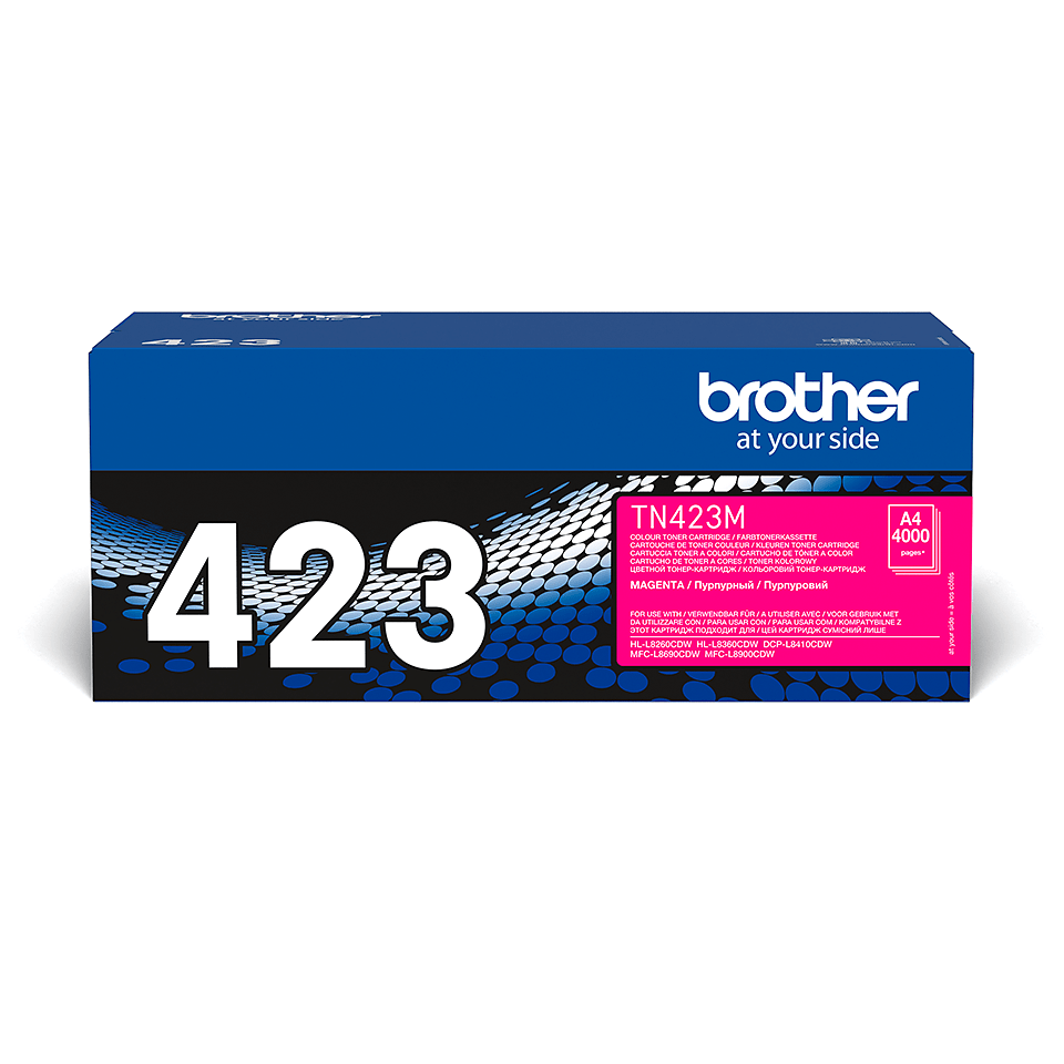 TN-423M toner magenta d'origine Brother à haut rendement