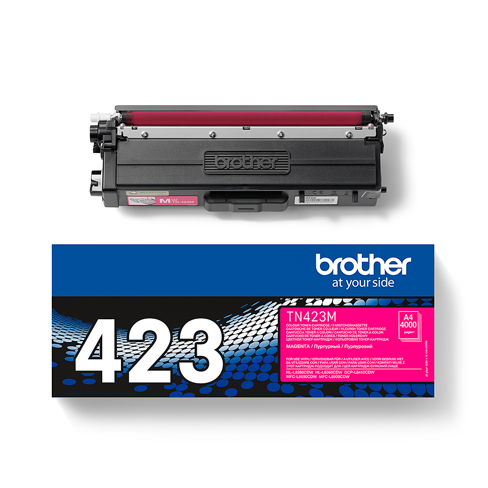 TN-423M toner magenta d'origine Brother à haut rendement 2