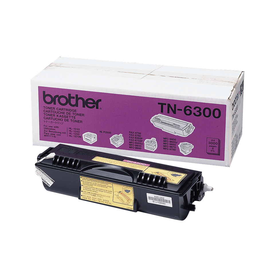 TN-6300 toner noir d'origine Brother à rendement standard