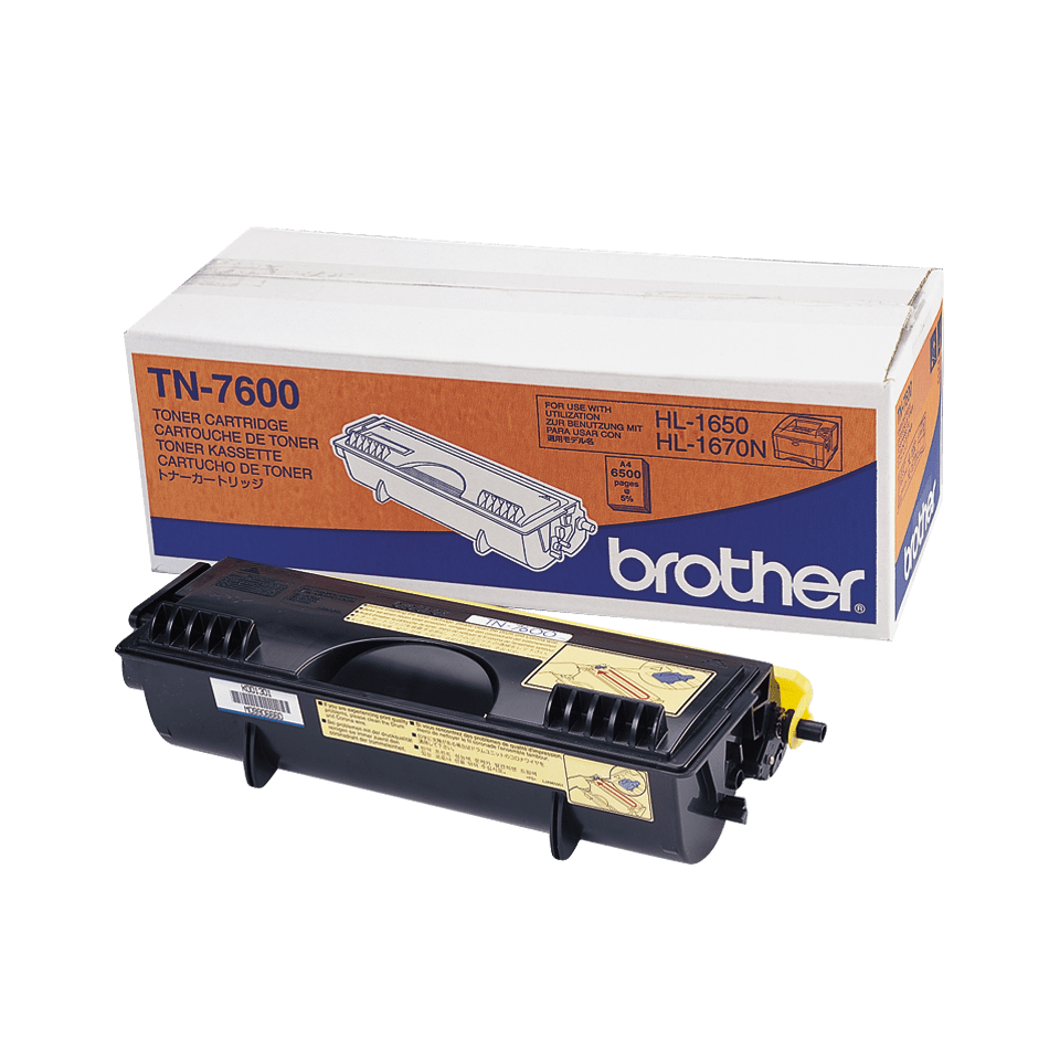 TN-7600 toner noir d'origine Brother à haut rendement