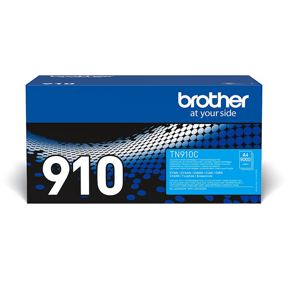 TN-910C toner cyan d'origine Brother à ultra haut rendement