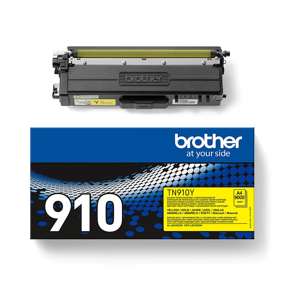 TN-910Y toner jaune d'origine Brother à ultra haut rendement