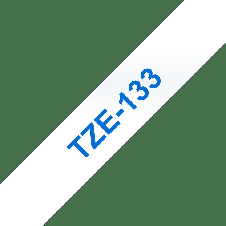 Cassette à ruban pour étiqueteuse TZe-133 Brother originale – Bleu sur transparent, 12mm de large 2