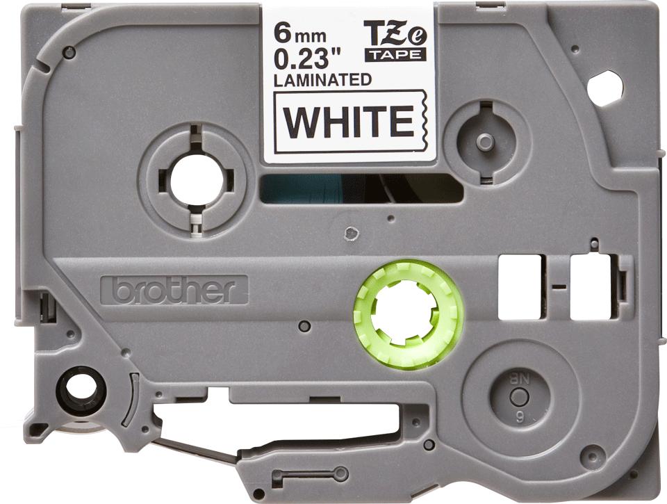 Cassette à ruban pour étiqueteuse TZe-211 Brother originale – Noir sur blanc, 6mm de large 0