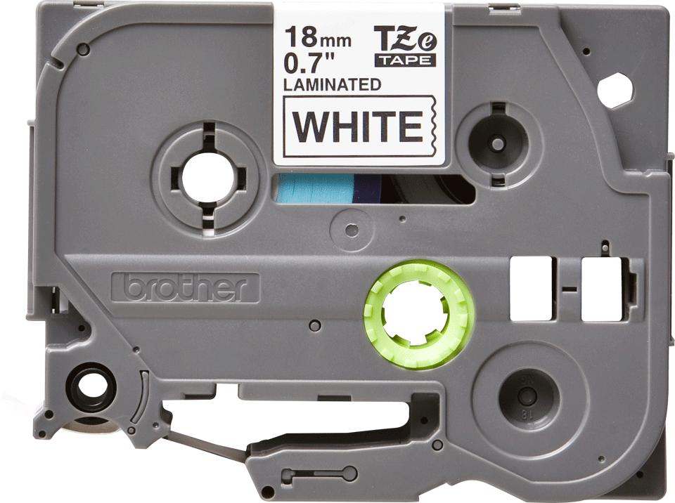 Cassette à ruban pour étiqueteuse TZe-241 Brother originale – Noir sur blanc, 18mm de large 0