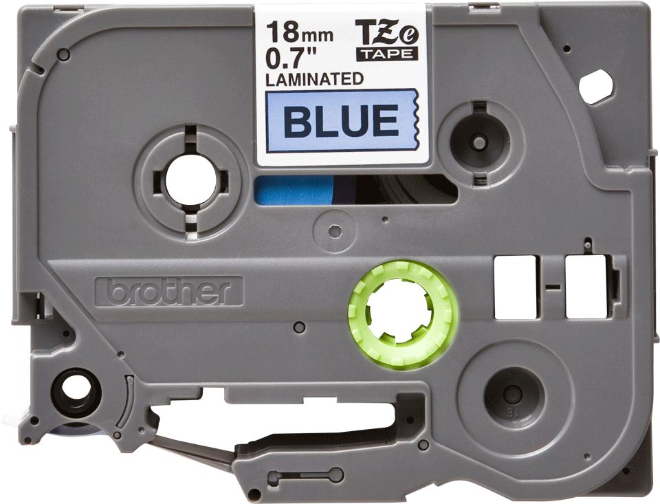 Cassette à ruban pour étiqueteuse TZe-541 Brother originale – Noir sur bleu, 18mm de large 0