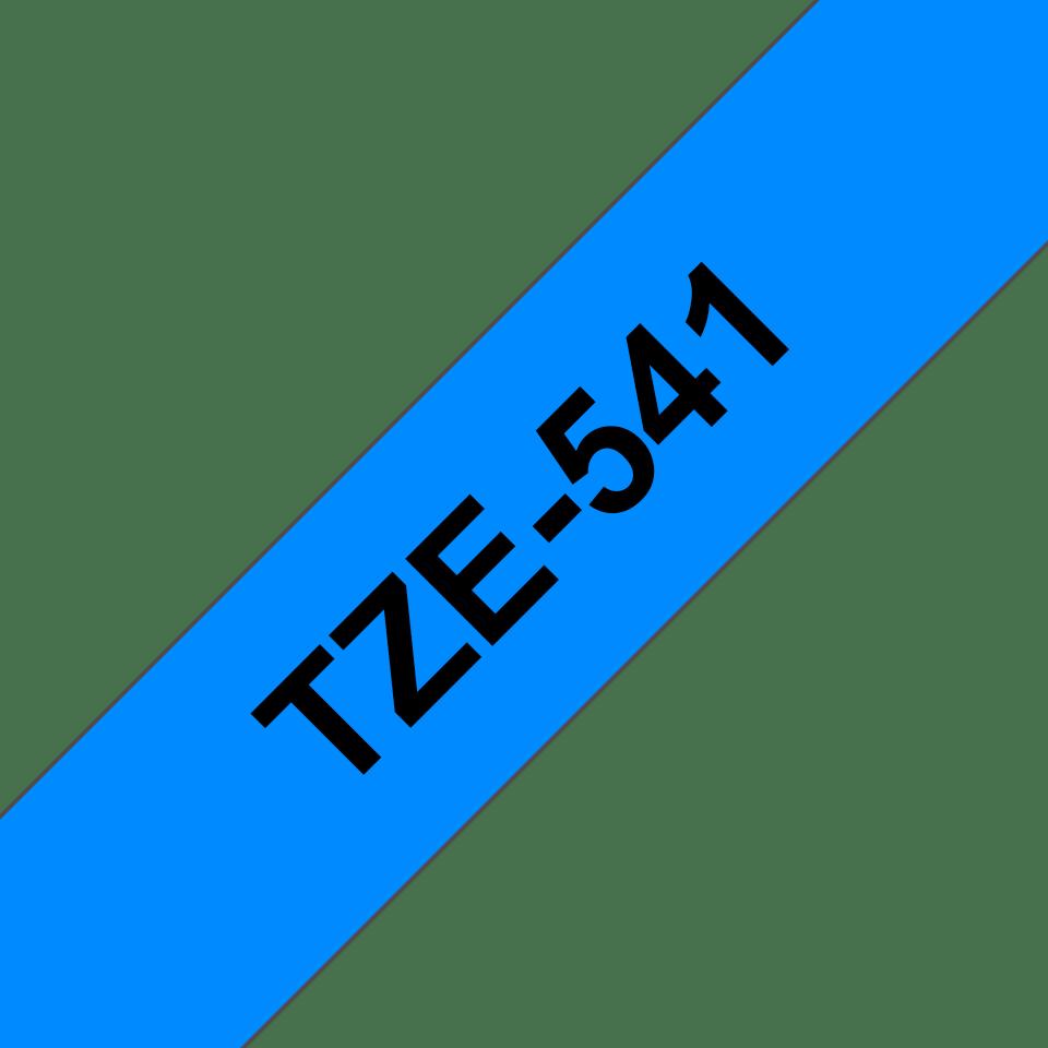 Cassette à ruban pour étiqueteuse TZe-541 Brother originale – Noir sur bleu, 18mm de large 2