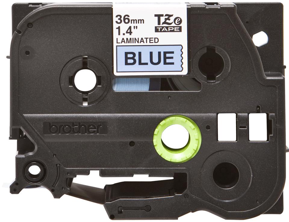 Cassette à ruban pour étiqueteuse TZe-561 Brother originale – Noir sur bleu, 36mm de large 0
