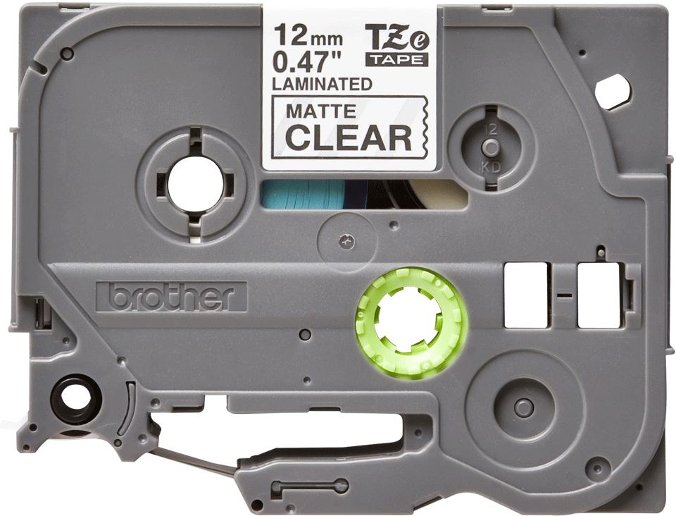 Cassette à ruban pour étiqueteuse TZe-M31 Brother originale – Blanc sur transparent mat, 12mm de large 0