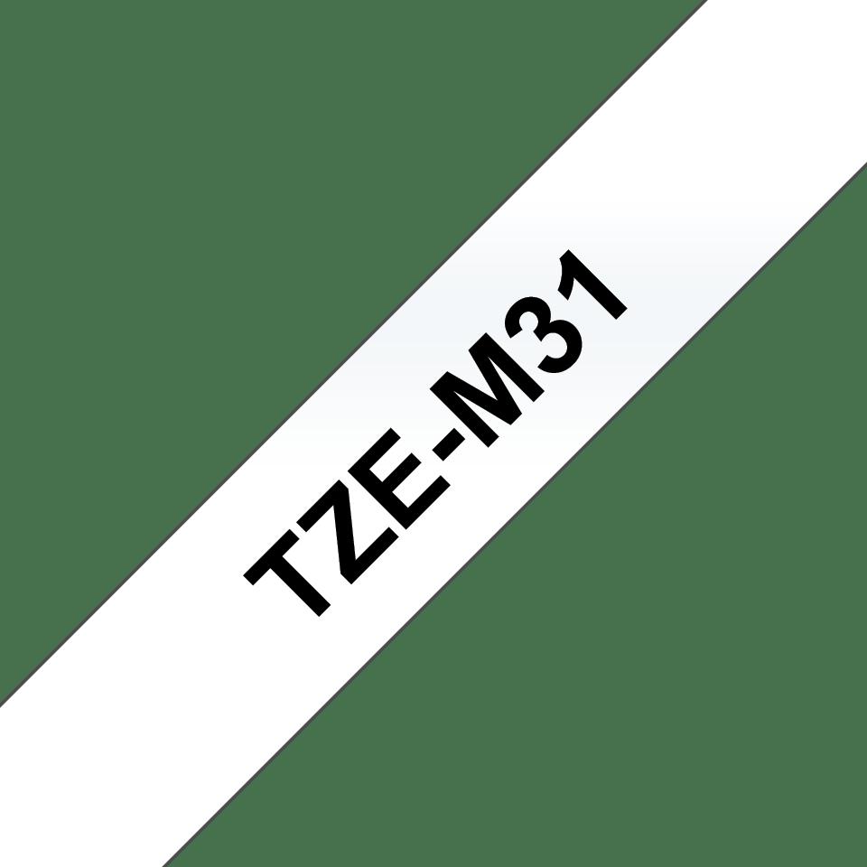 Cassette à ruban pour étiqueteuse TZe-M31 Brother originale – Blanc sur transparent mat, 12mm de large 2