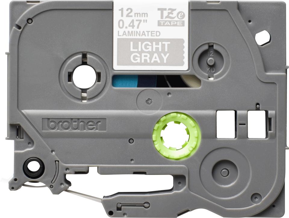 Cassette à ruban pour étiqueteuse TZe-MQL35 Brother originale – Blanc sur gris clair mat, 12mm de large 0