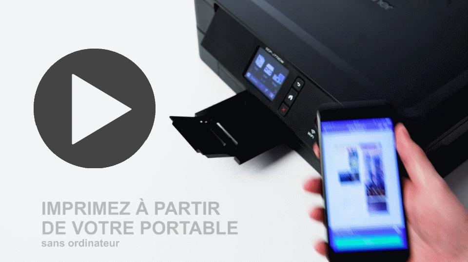DCP-J772DW imprimante jet d'encre A4 3-en-1 compacte et wifi 7