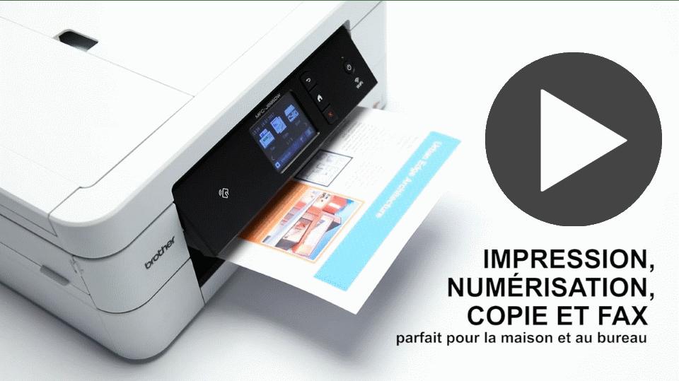 MFC-J895DW imprimante jet d'encre A4 4-en-1 compacte et wifi 7